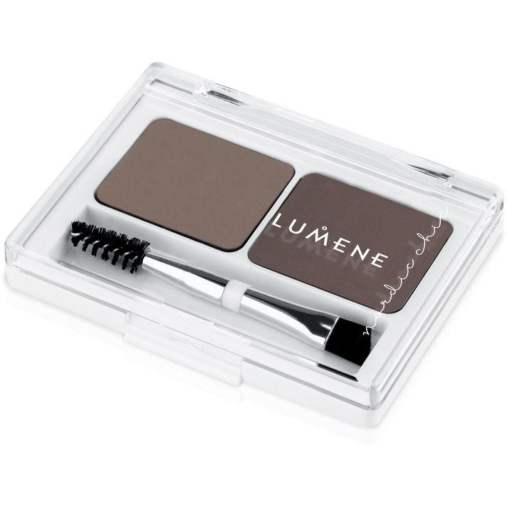Палетки Lumene Nordic Chic Extra Stay Eyebrow Palette (Средний коричневый) воск для бровей lumene nordic chic eyebrow shaping wax 02 цвет 02 grey brown variant hex name 5f443d