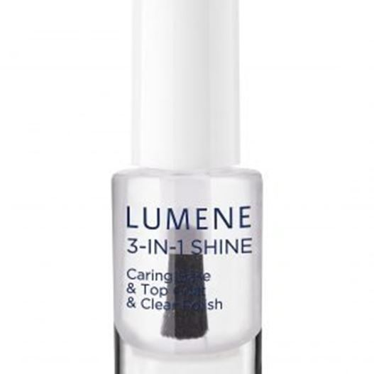 Лак Lumene Gloss & Care 3 In 1 Shine Caring Base & Top Coat & Clear