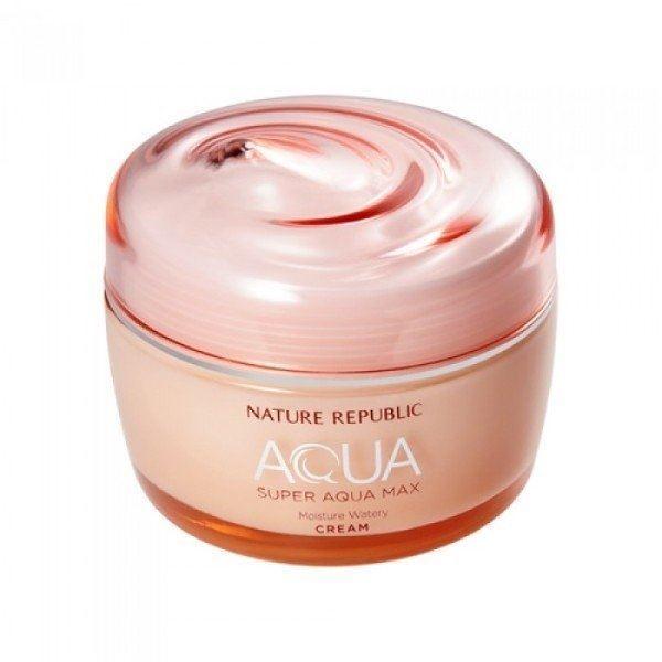 Крем Nature Republic Aqua Super Aqua Max Moisture Watery Cream aqua cream средство для макияжа 18 розовато лиловый