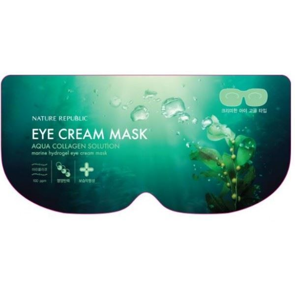 Маска Nature Republic Aqua Collagen Solution Marine Hydro Gel Eye Cream Mask (1 шт) недорого