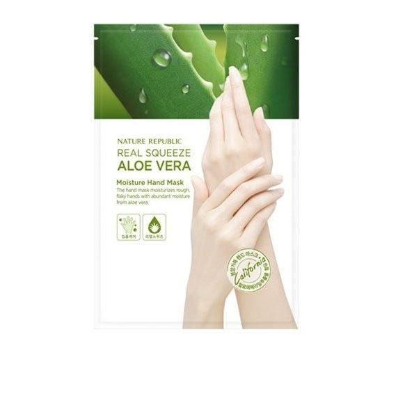 Маска Nature Republic Real Squeeze Aloe Vera Moisture Hand Mask  14 мл недорого