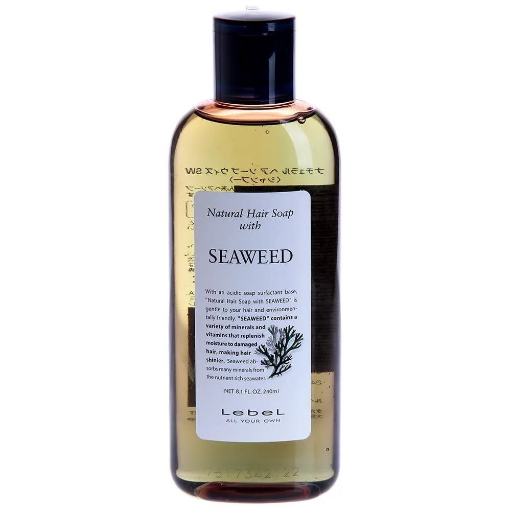 Шампунь Lebel Cosmetics Hair Soap With Seaweed 240 мл lebel cosmetics cool orange sc hair soap шампунь супер холодный апельсин 600 мл
