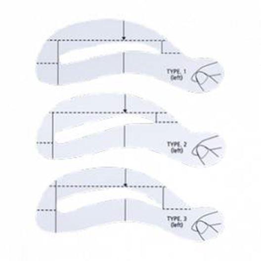 Набор The Saem Eyebrow Guide (1 шт) сопутствующие товары the saem eyebrow trimmer 2 шт желтая