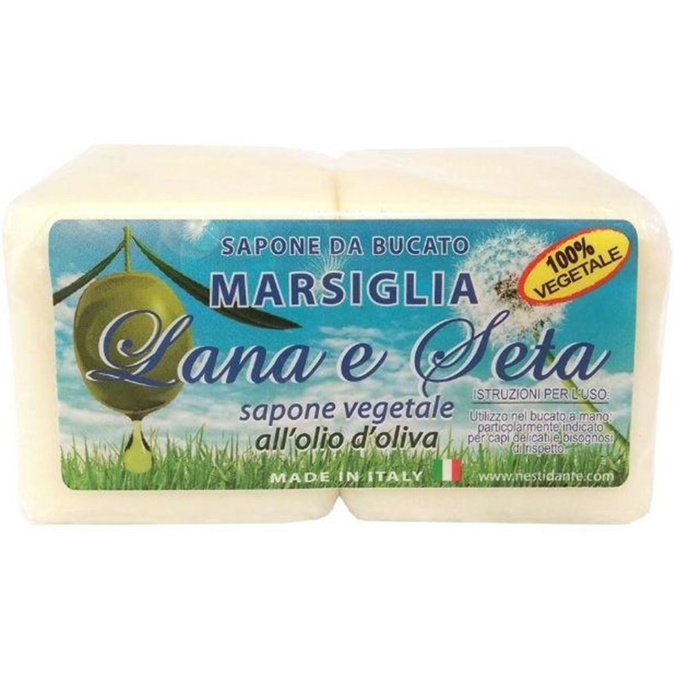 Мыло Nesti Dante Lana & Seta With Olive Oil Laundry Soap (2 х 150 г) madina olive soap 3 5 oz with aloe vera
