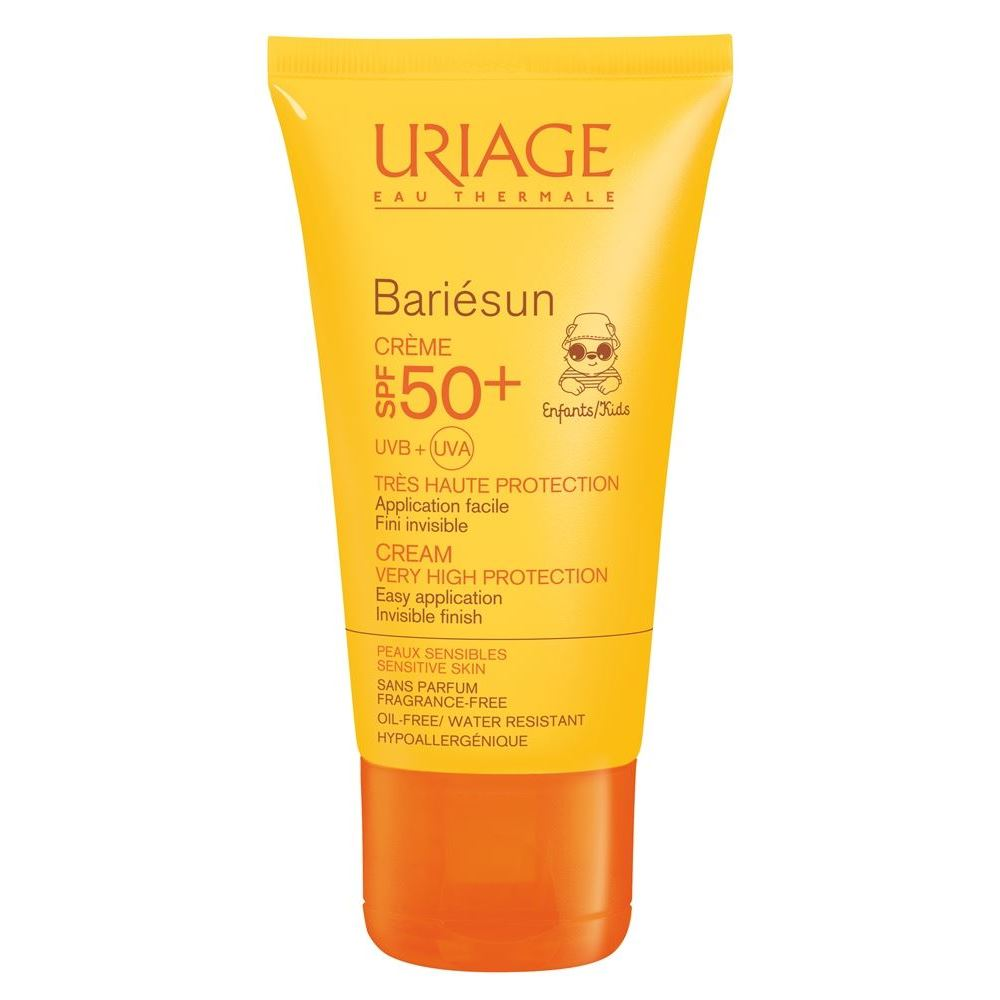 Крем Uriage Bariesun Cream For Children SPF 50+ 50 мл uriage крем солнцезащитный барьесан spf 30 uriage bariesun creme u01345 50 мл