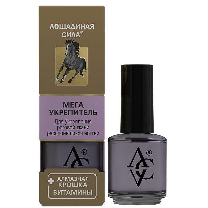 Лак Horse Forse Мега Укрепитель ногтей с алмазной крошкой и витаминами 17 мл