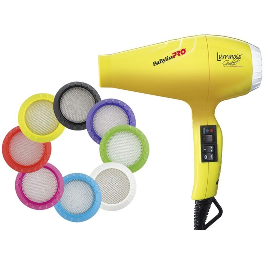 Фен BaByliss BAB6350IYE Luminoso Giallo Ionic 2100W (BAB6350IYE ) фен elchim 3900 healthy ionic red 03073 07