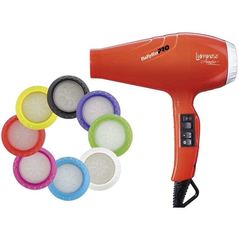 Фен BaByliss BAB6350IOE Luminoso Arancio Ionic 2100W (BAB6350IOE ) фен elchim 3900 healthy ionic red 03073 07