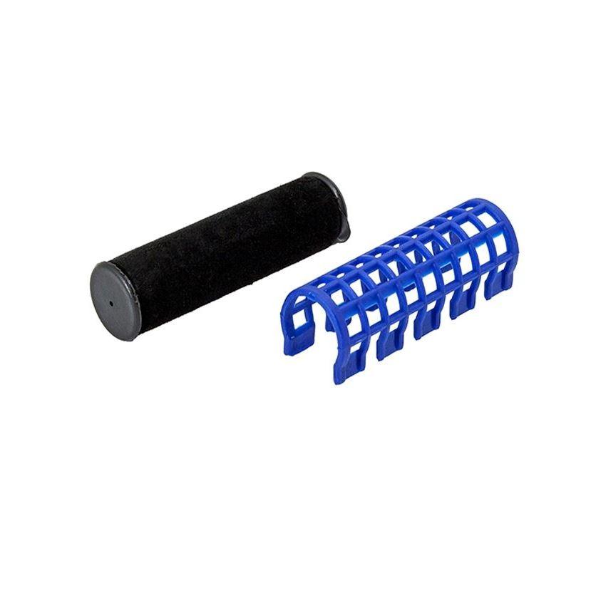 Сопутствующие товары Harizma Professional h10980-17 Термобигуди 17 мм, синие (1 шт) сопутствующие товары harizma professional h10995 кобура для ножниц из натуральной кожи 1 шт