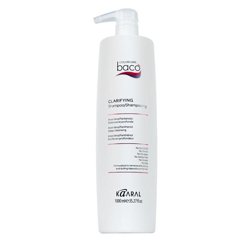 Шампунь Kaaral Baco Shampoo Clarifing 1000 мл kaaral стойкий безаммиачный краситель 8 светлый блондин kaaral baco soft ammonia free af8 60 мл