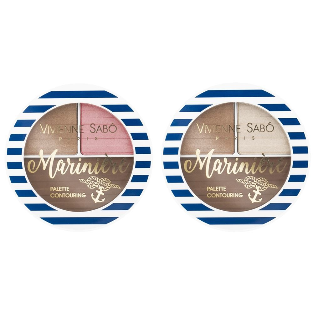 Палетки Vivienne Sabo Palette Contouring Mariniere (01) для лица essence палетка для скульптурирования shape your face contouring palette 20 цвет 20 ready set pink variant hex name eb7ba6