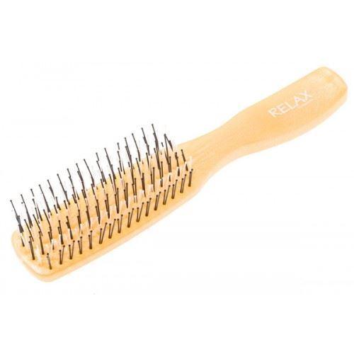 Расческа Harizma Professional h10694-19 Relax Щетка для волос малая золотая (1 шт) плойка harizma professional h10309lсd 19 curl control 19 мм плойка для волос 1 шт