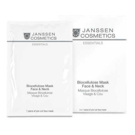 Маска Janssen Cosmetics Biocellulose Mask Face & Neck (1 шт) корректоры janssen cosmetics tinted corrective balm medium