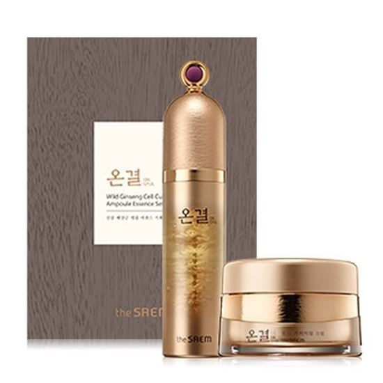 Набор The Saem Sooyeran Wild Ginseng Cell Culture Ampoule Essence (Набор: эссенция, 55 г + крем, 30 мл) the saem sooyeran radiance cream
