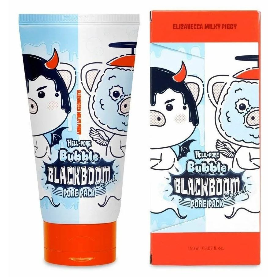 цена на Маска Elizavecca Hell-Pore Bubble Blackboom Pore Pack 150 мл