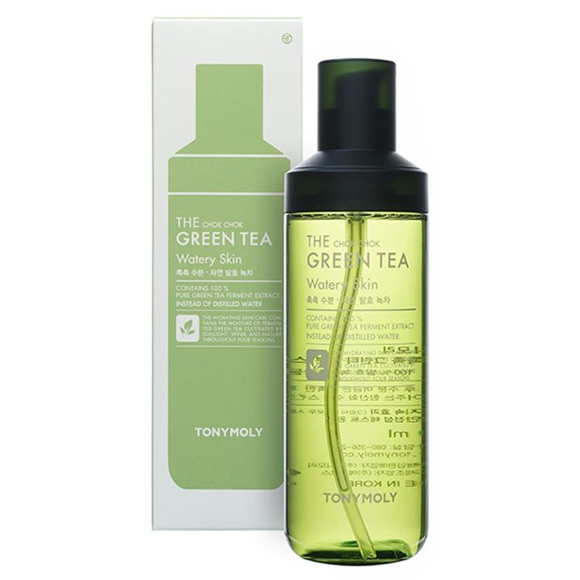 Тоник Tony Moly The Chok Chok Green Tea Watery Skin Toner 180 мл гидрофильное масло it s skin green tea calming cleansing oil объем 145 мл