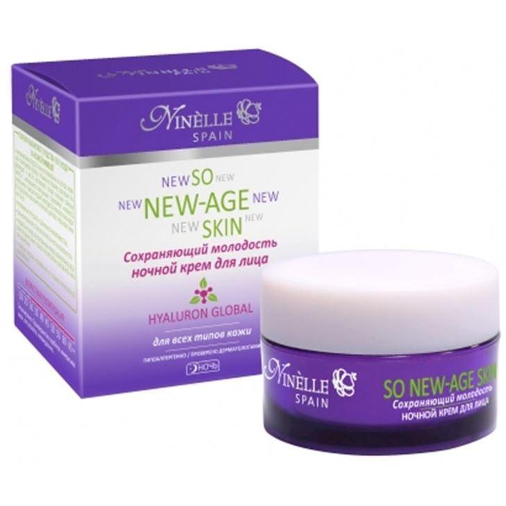 Крем Ninelle So New-Age Skin Hyaluron Global Ночной крем для лица so new age skin сохраняющий молодость крем для лица ночной 50 мл