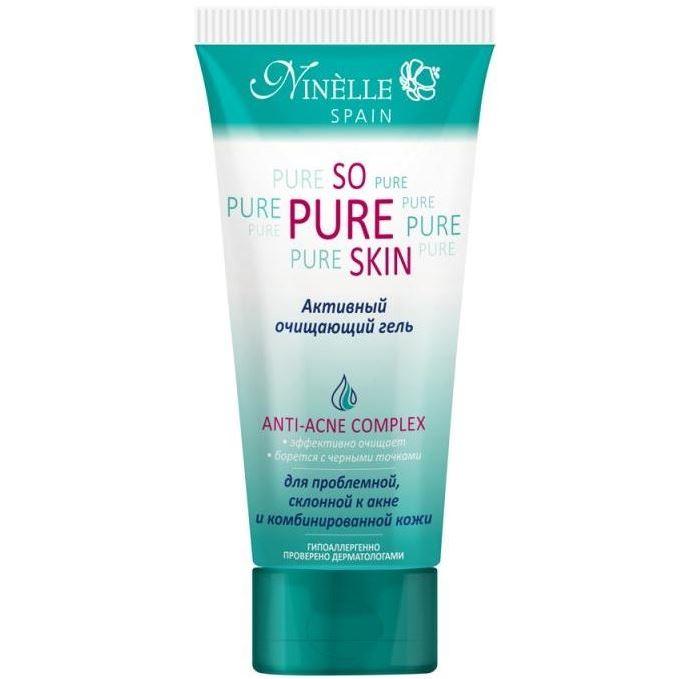 Гель Ninelle So Pure Skin Anti-Acne Complex Активный очищающий гель it s skin успокаивающийочищающийгель
