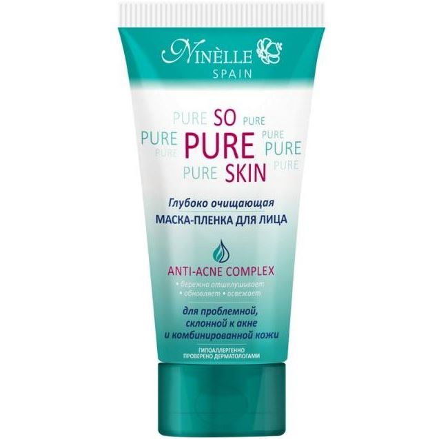 Маска Ninelle So Pure Skin Anti-Acne Complex Маска-пленка для лица 75 мл markell маска пленка для лица natural 100 мл