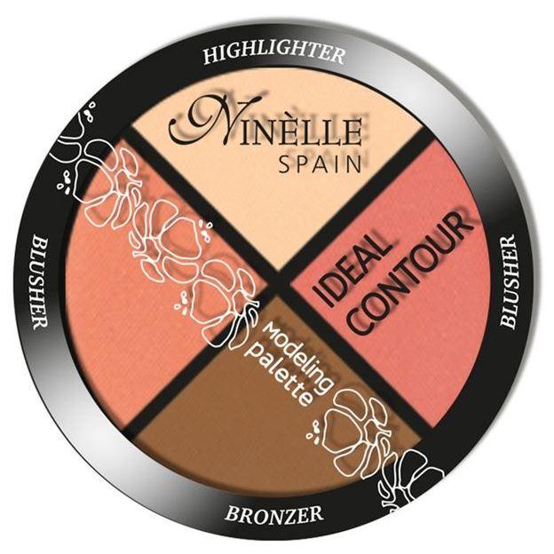 Палетки Ninelle Ideal Contour Modeling Palette (38) румяна ninelle soft focus balance meteorites 31