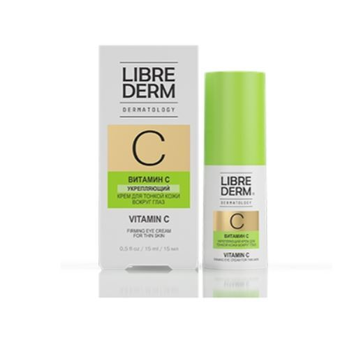 Крем Librederm Vitamin C Firming Eye Cream For Thin Skin  15 мл the yeon canola honey firming eye cream крем укрепляющий для кожи вокруг глаз 30 мл