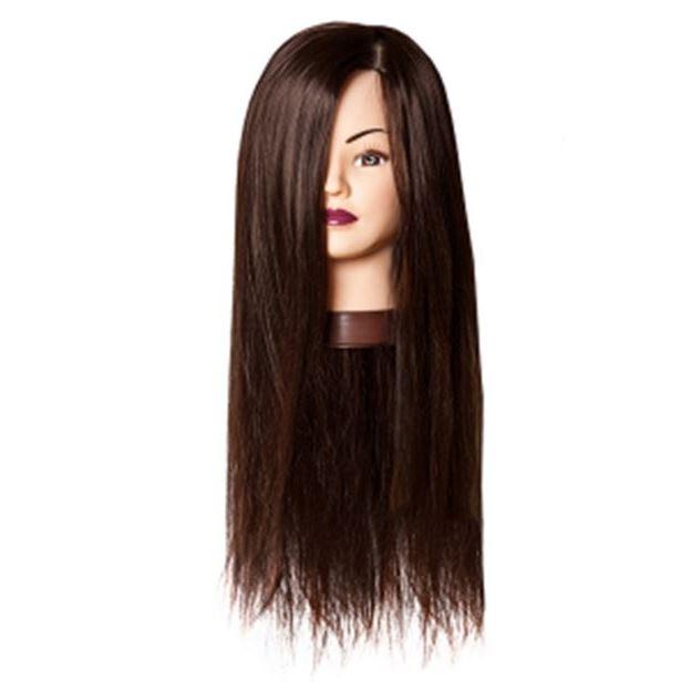Сопутствующие товары Harizma Professional h10825 Голова учебная шатен (1 шт) манекен с натуральными волосами