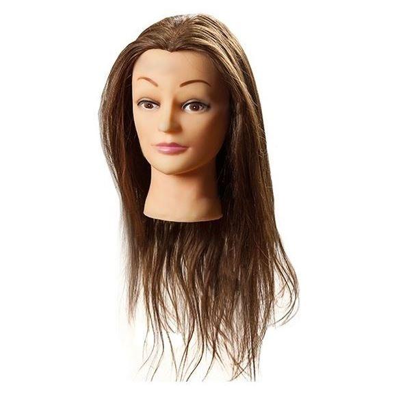 Сопутствующие товары Harizma Professional h10823 Голова учебная шатен (1 шт) манекен с натуральными волосами