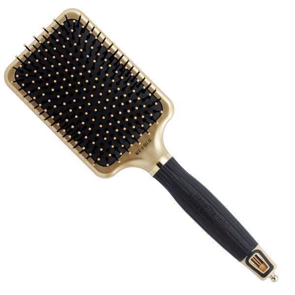 Щетка Olivia Garden OGBNTGOPDL Ceramic + Ion Nano Thermic Gold Щетка для волос, лимитированный выпуск (OGBNTGOPDL) щетка olivia garden ogbhhp6 healthy hair ionic combo paddle hh 6 щетка для волос ogbhhp6