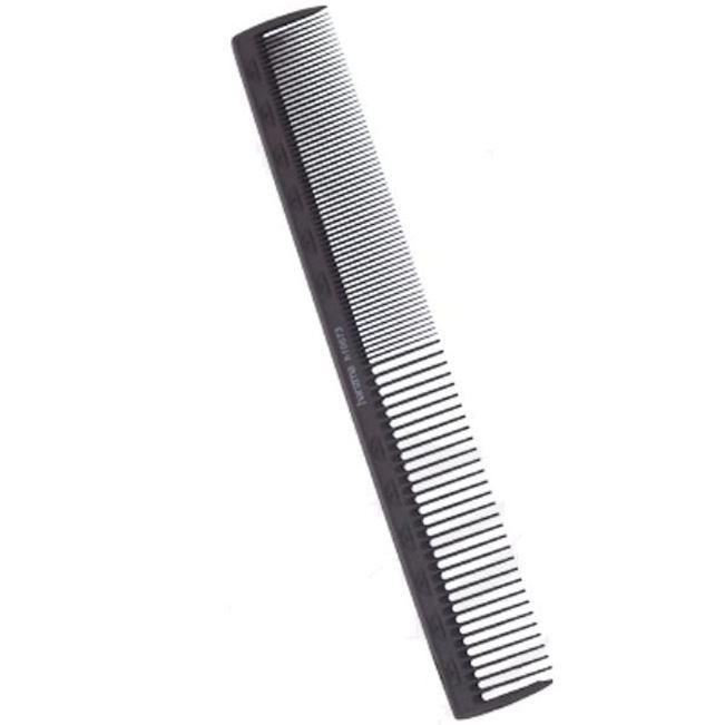 Расческа Harizma Professional h10673 Carbon Antistatic Расческа для стрижки 18 см широкая (1 шт) harizma машинка для стрижки вибрационная 15 вт