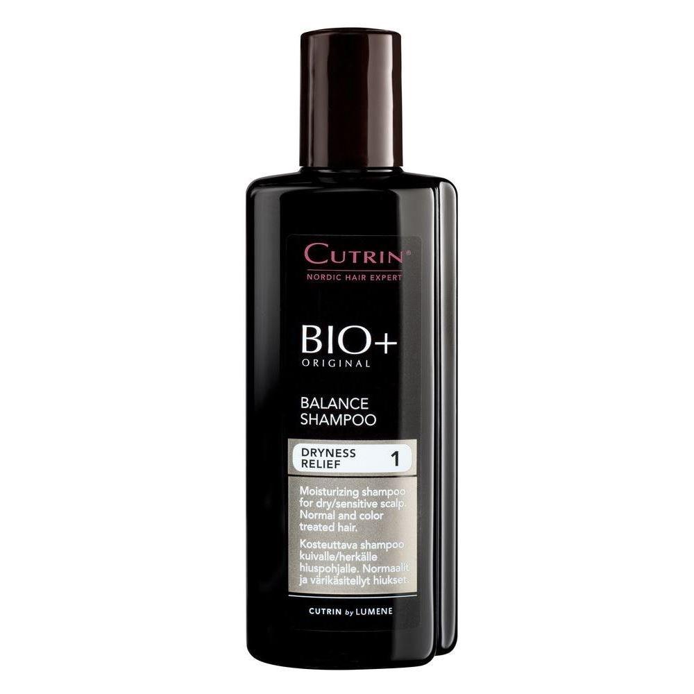 Шампунь Cutrin Bio+ Dryness Relief Balance Shampoo 500 мл senscience senscience шампунь для нормальных волос shampoos and conditioners balance shampoo 42456 300 мл