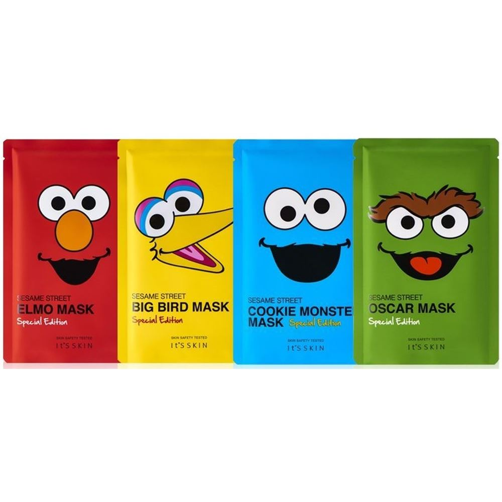 Маска It s Skin Sesame Street Mask Special Edition (Oskar) маска it s skin green tea watery mask sheet 1 шт