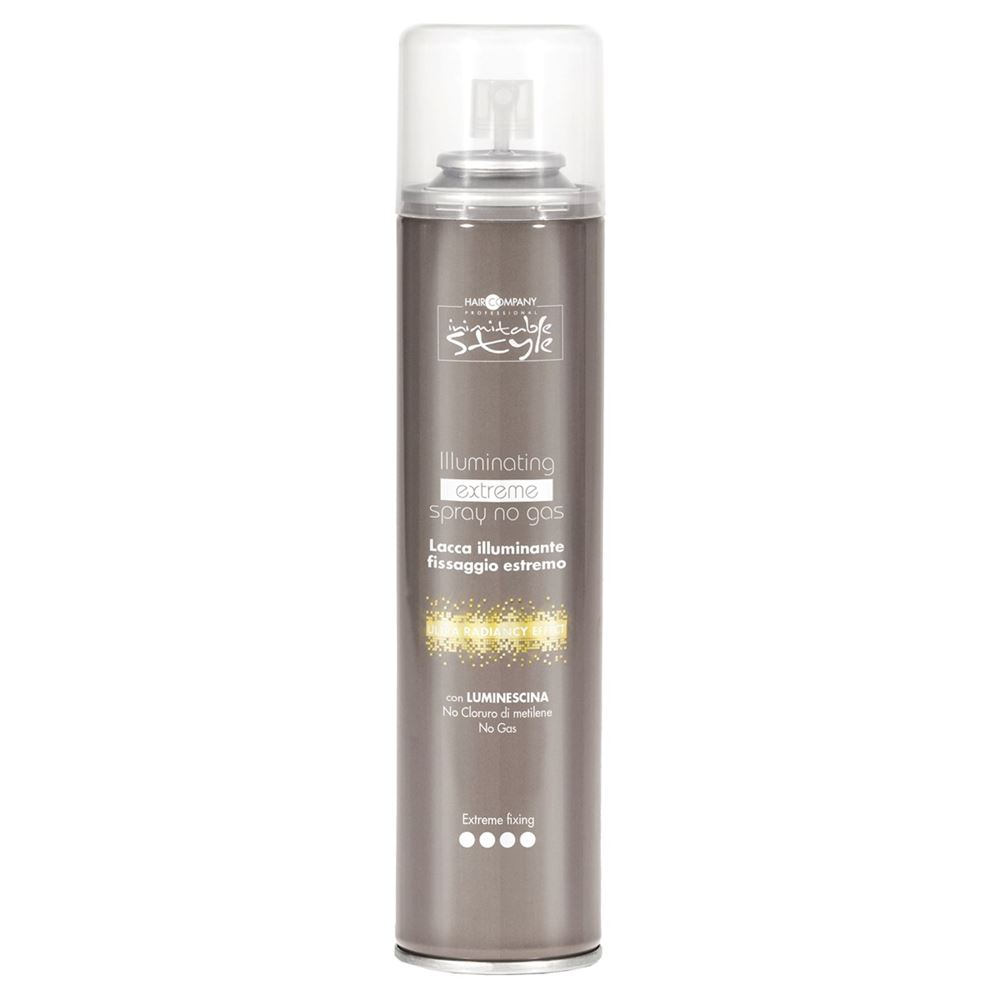 Лак Hair Company Illuminating Extreme Spray No Gas 300 мл hair company маска придающая блеск illuminating mask 1 л