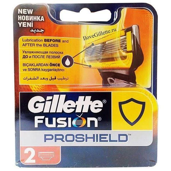 Кассеты Gillette Fusion ProShield - 2 Сменные Кассеты (2 шт)
