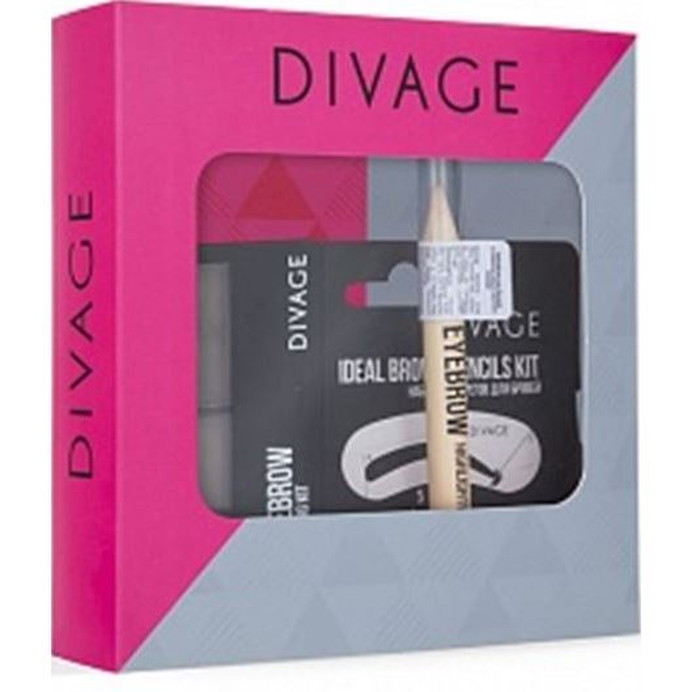 Набор: Корректоры Divage Подарочный набор №68 (Набор: набор д/бровей, тон 01 + хайлайтер + набор трафаретов)