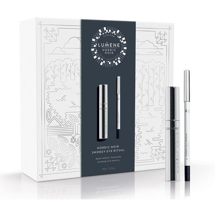 Набор Lumene Nordic Noir Smokey Eye Ritual (Набор: тушь, 15 мл + карандаш, 0.5 г) набор крем lumene valo 24h glow ritual