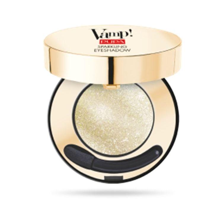 Тени для век Pupa Vamp! Sparkling Eyeshadow (002 Luxury Black) цены онлайн
