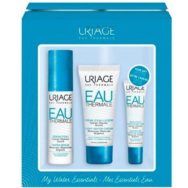 Набор Uriage Eau Thermale My Water Essentials Set (Набор: крем д/глаз, 15 мл + крем д/лица, 40 мл + сыворотка, 30 мл) uriage увлажняющий крем для лица для детей и новорожденных первый крем 40 мл
