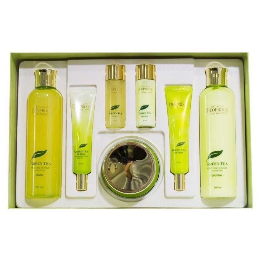 Набор Deoproce Premium Green Tea Total Solution Skin Care 5 Set (Набор) лосьон deoproce coenzyme q10 firming lotion
