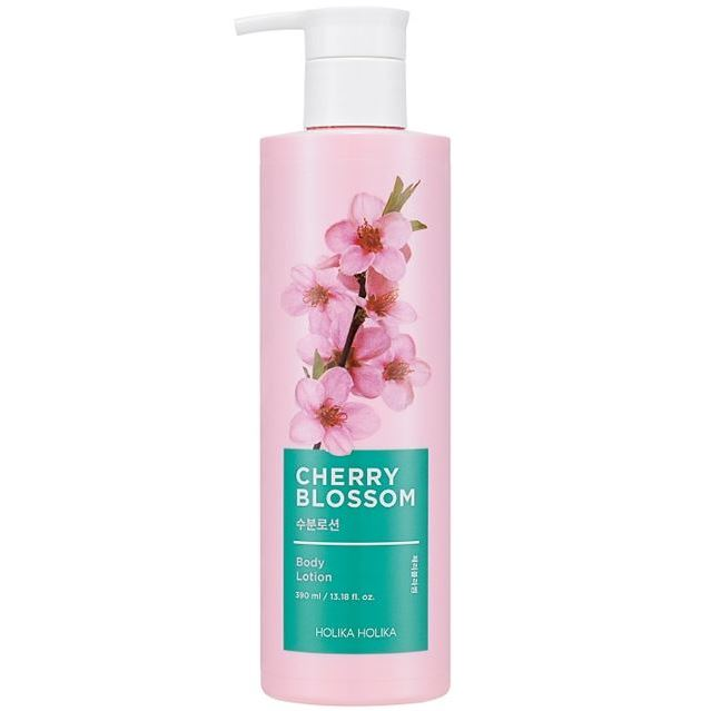 Лосьон Holika Holika Cherry Blossom Body Lotion 390 мл darphin интенсивно увлажняющий лосьон для тела интенсивно увлажняющий лосьон для тела