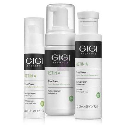 Набор GiGi RETIN A Triple Power KIT (Набор) косметические наборы для ухода l oreal paris подарочный набор ревиталифт лазер дневной крем для лица 50 мл ночной лосьон пилинг 125 мл