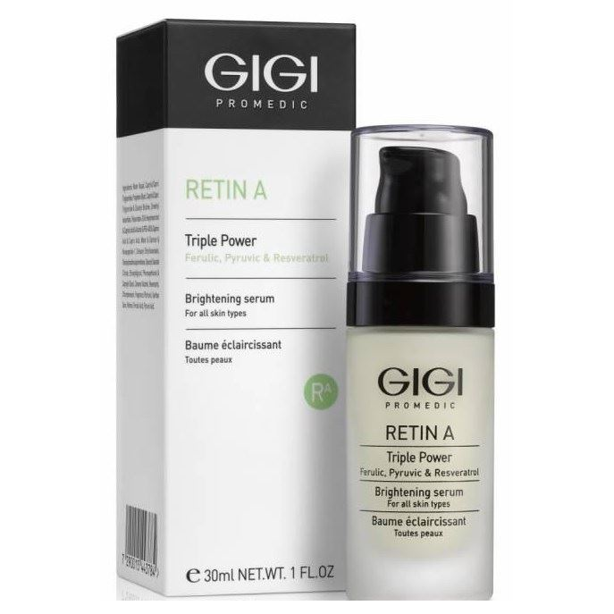 gigi сыворотка отбеливающая quadro multy application whitening serum gel 20018 60 мл Сыворотка GiGi RETIN A Triple Power Brightening Serum 30 мл