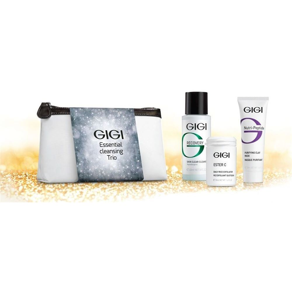Набор GiGi Essential Cleansing Trio (Набор: эксфолиант, 50 мл + маска, 50 мл + гель, 60 мл) набор гель ahava набор elemental body trio