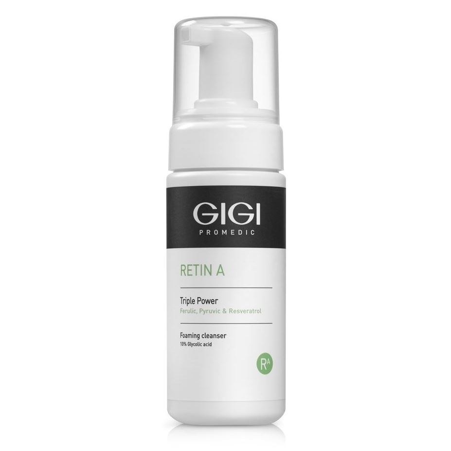 Мусс GiGi RETIN A Triple Power Foaming Cleanser 120 мл caudalie instant foaming cleanser мусс для лица очищающий 150 мл