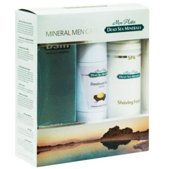цена на Набор Mon Platin Mineral Men Care (Набор: эмульсия, 150 мл + пена д/бритья, 250 мл + дезодорант, 80 мл)