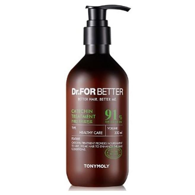 Кондиционер Tony Moly Dr. For Better Catechin Treatment 300 мл маска tony moly make hd argan rose treatment hair steam pack 1 шт
