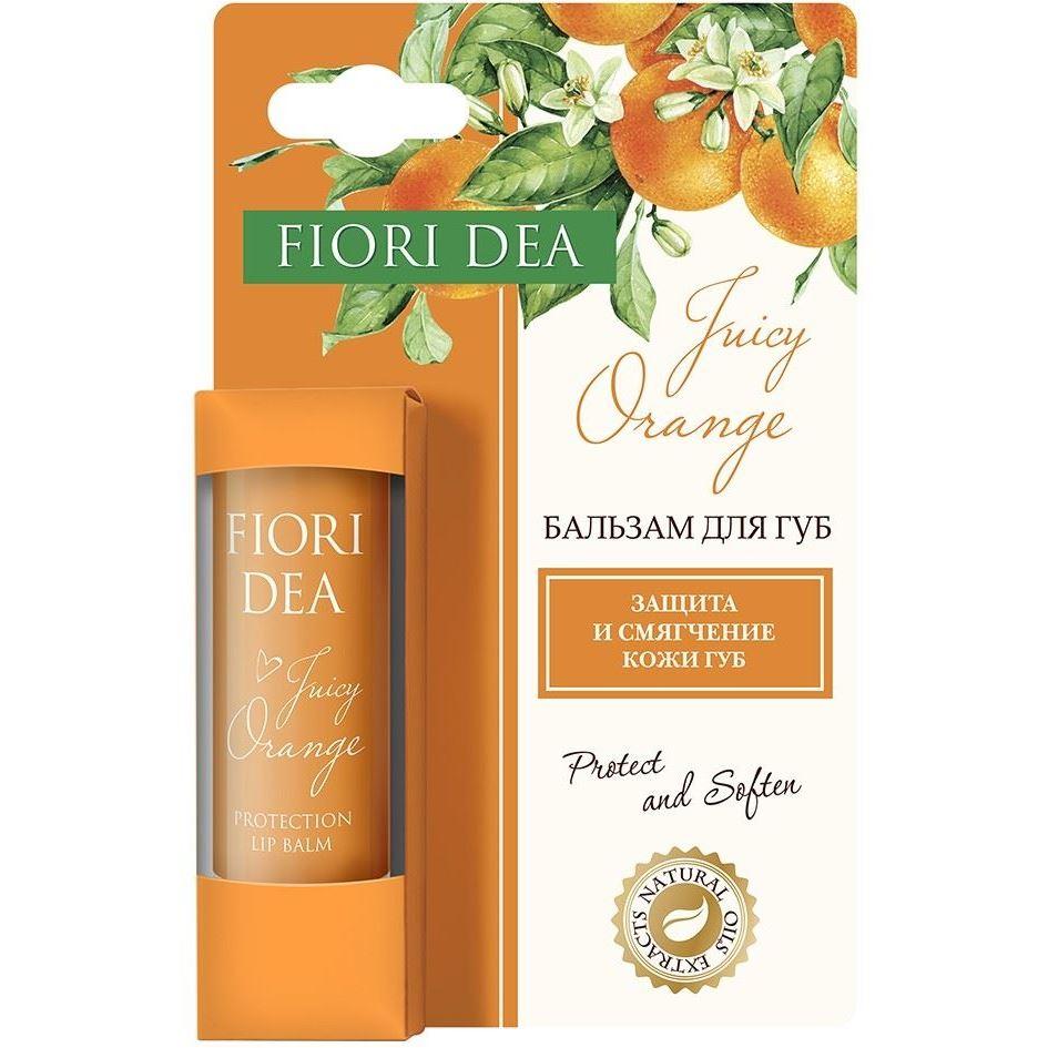 Бальзам Fiori Dea Juicy Orange Protection Lip Balm (4.5 г) hurraw бальзам для губ coconut lip balm 4 3 г