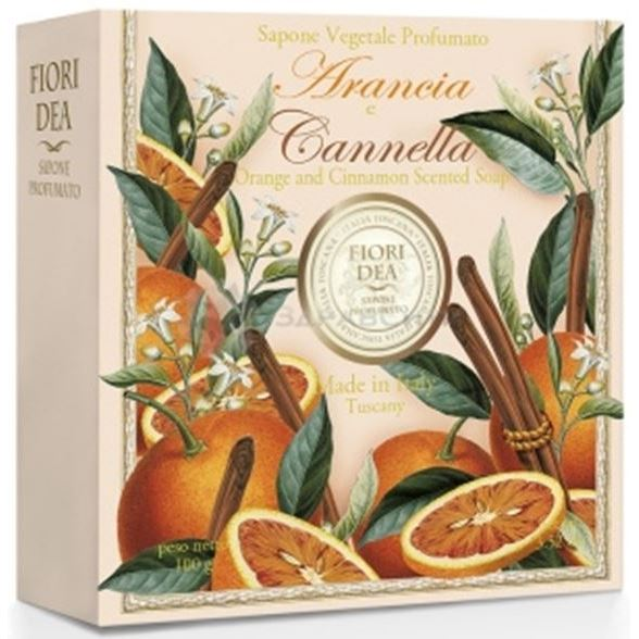 Мыло Fiori Dea Orange And Cinnamon Scented Soap (125 г х 3 шт) cinnamon orange spice tea loose leaf black tea with cinnamon pieces and orange peels 5 pounds