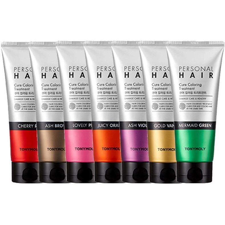 Краска для волос Tony Moly Personal Hair Cure Coloring Treatment (Mermaid Green) сопутствующие товары tony moly hair band 1 шт