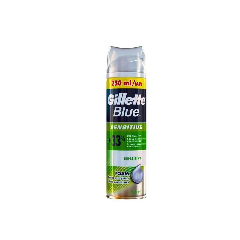 Пена Gillette Blue Sensitive Foam 250 мл пена gillette series foam cool cleansing 250 мл