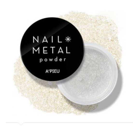 Лак для ногтей A Pieu Nail Metal Powder (Silver) mac splash and last pro longwear powder устойчивая компактная пудра dark tan